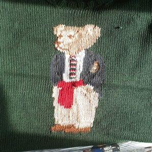 Vintage Polo Ralph Lauren 'Crest Bear' Knit S